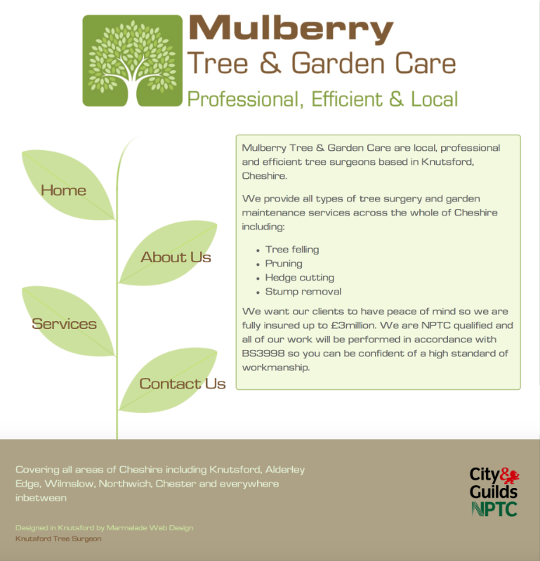 Mulberry Tree and Garden Care Website