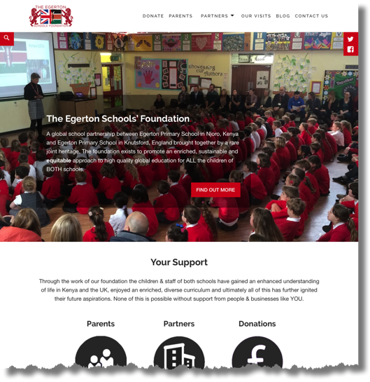 The Egerton Schools' Foundation Website